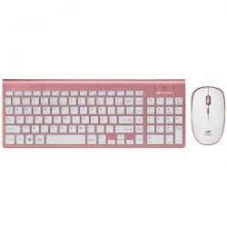 Teclado e Mouse s/fio rosa K-W600 BK C3 Tech
